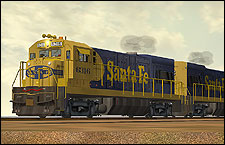 ATSF U23B Locomotive - 2.78 MB KB